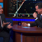 Steve Carell and Stephen Colbert can't stop giggling reenacting an old vomity sketch